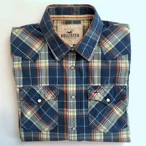 Hollister men's pearl snap shirt